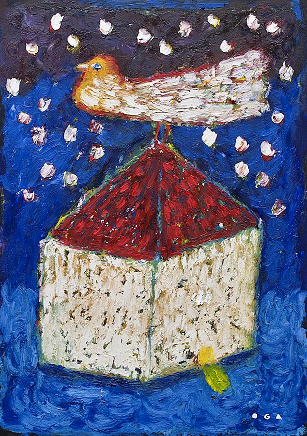 オーガフミヒロ-Oil bar paintings-