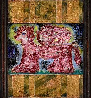オーガ ベン ガラス絵展「小さな神様」